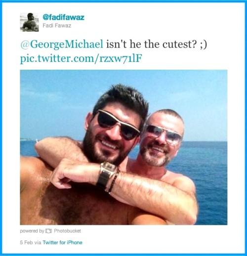 George Michael,Fadi Fawaz,holidays,Twitter