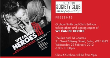 We Can Be Heroes,Chris Sullivan, Graham Smith, Unbound Publishing,party