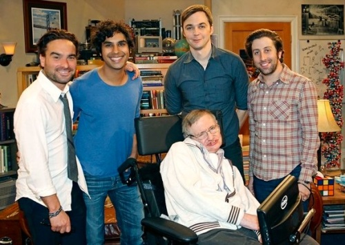 Stephen Hawking ,Big Bang Theory,Simon Helberg,Kunal Nayyar,Jim Parsons,Johnny Galecki,E4