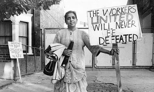 1977, Jayaben Desai, Grunwick, strike, picket
