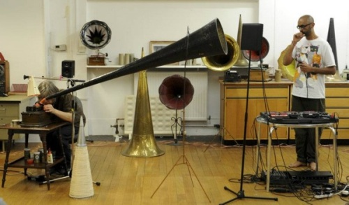 Aleks Kolkowski ,beatboxer, Jason Singh,wax recording,phonograph