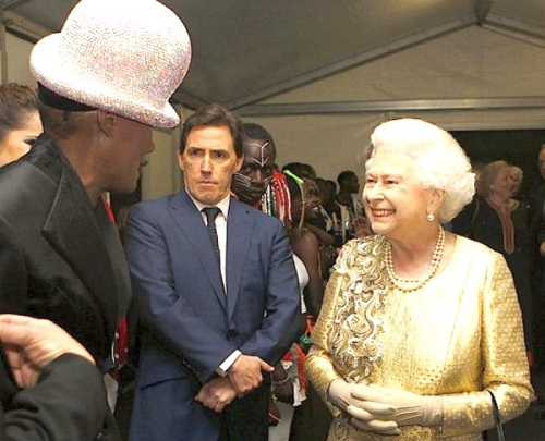 Grace Jones, HM Queen Elizabeth II, Diamond Jubilee Concert,