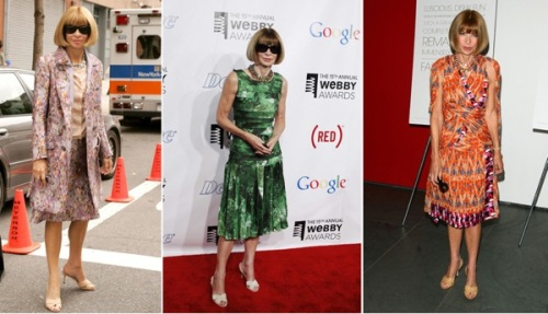 Anna Wintour ,fashion,Layers & Swathes