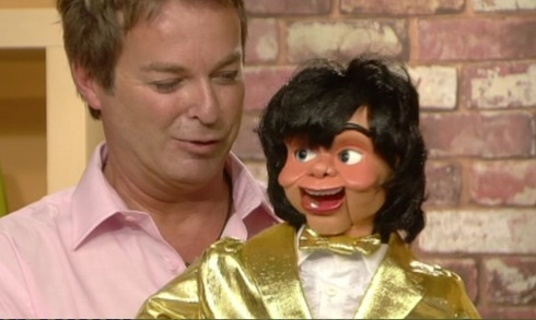Celebrity Big Brother, Kallini Puppets, Julian Clary, ventriloquism, tuxedo, fashion