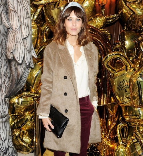 Alexa Chung, London, Fashion's Night Out, Vogue, Mulberry