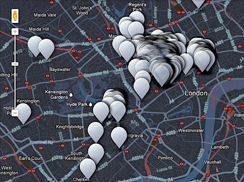 London ,maps, Fashion's Night Out