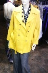 Yellow Marc Jacobs coat, grey Betty Jackson trousers