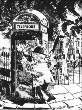 Class struggle at the phone booth: Fire, by John Antrobus
