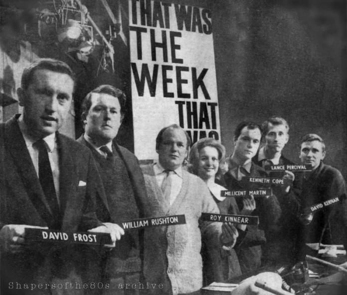 Hugh Carleton-Greene, David Frost, TW3, BBC, satire, 1960s,Private Eye, Bernard Levin, JFK, Christopher Booker, Millicent Martin,