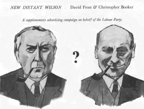 "Politicians guyed on TW3: ""I cannot tell new Instant Wilson from old pipe-smoking Attlee"""
