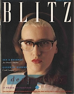 Blitz magazine,fashion,style,1980s, London, pop music