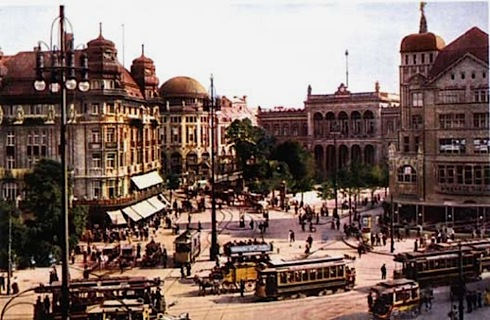 Potsdamer Platz in 1910: looking south towards the Potsdamer Bahnhof