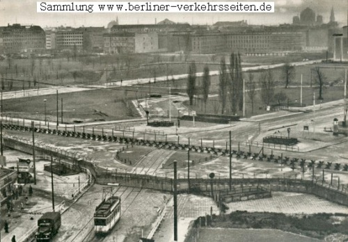 Potsdamer Platz in 1961: the postwar wasteland is divided by the Wall and was to become known as the Kill Zone
