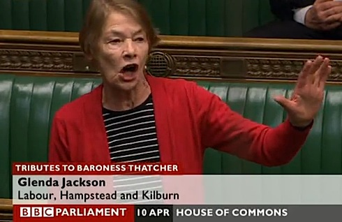Glenda Jackson ,video, Commons ,debate, Thatcher