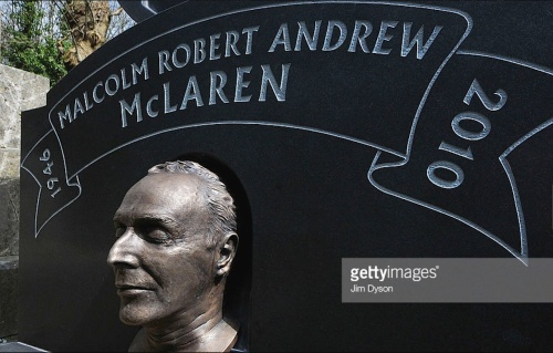 Malcolm McLaren, Highgate Cemetery, bronze, death mask , Nick Reynolds