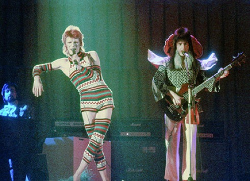 Ziggy Stardust,mime, David Bowie,Spiders from Mars,Trevor Bolder