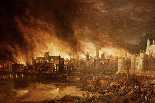 great fire of london In 1666, the great fire of london nearly destroyed the city barry klein explains how the first insurance company - as well as the first fire brigade emerged from the ashes.