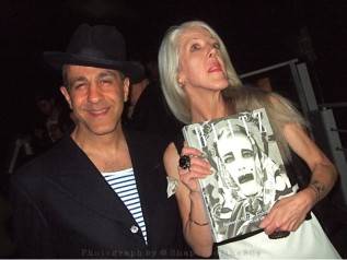 Webb's ICA launch: 80s style icon Christos Tolera with cover girl Scarlett Cannon