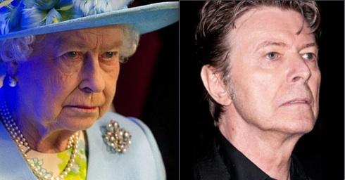 "Who is the least amused: Her Maj yesterday listening to the Bowie song ""Heroes"" or its author?"