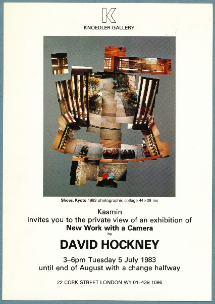 David Hockney,New Work With A Camera, photography, London, 1983