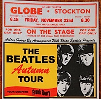 Beatles, UK tour, 1963, Globe theatre, Stockton-on-Tees,