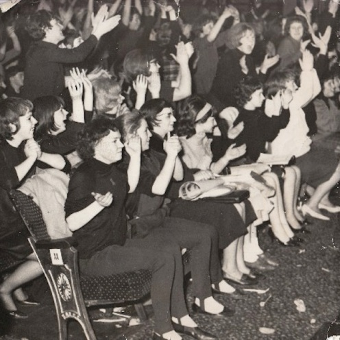 Beatles, UK tour, 1963, Globe theatre, Stockton-on-Tees, Beatlemania