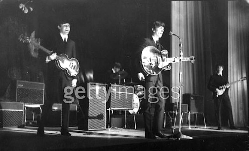 Beatles, UK tour, 1963, Globe theatre, Stockton-on-Tees,  Beatlemania, Paul McCartney, John Lennon, CBS News, video, JFK, assassination, President Kennedy, Nov 22,