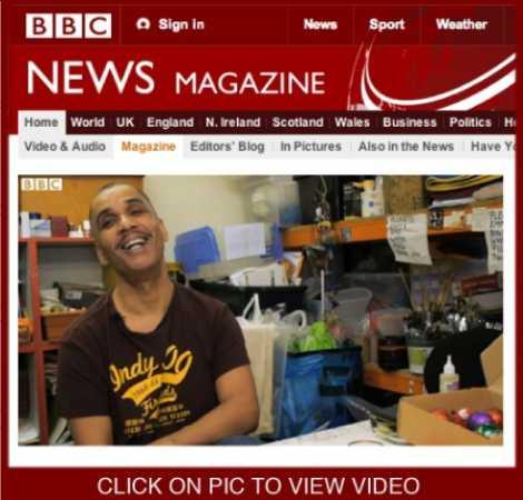 Andy Polaris,window displays, Christmas, shopping, London,BBC News, video
