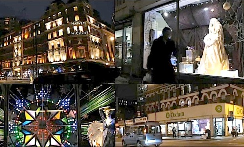 window displays, Christmas, shopping, London,BBC News, video