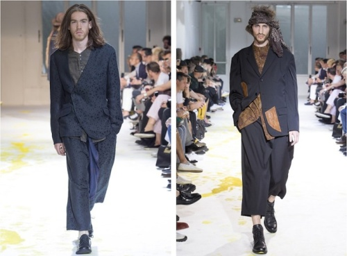 Yohji Yamamoto, 2015 Spring/Summer, menswear, Collection, Paris Fashion Week, grunge, tailoring, deconstruction