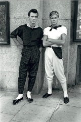 Two members of the pop group Spandau Ballet on the King's Road in 1980, in strict New Romantic garb