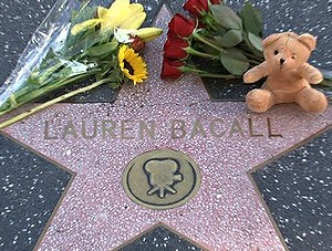 cinema, glamour, goddess, Hollywood, Lauren Bacall, Tributes, Walk of Fame