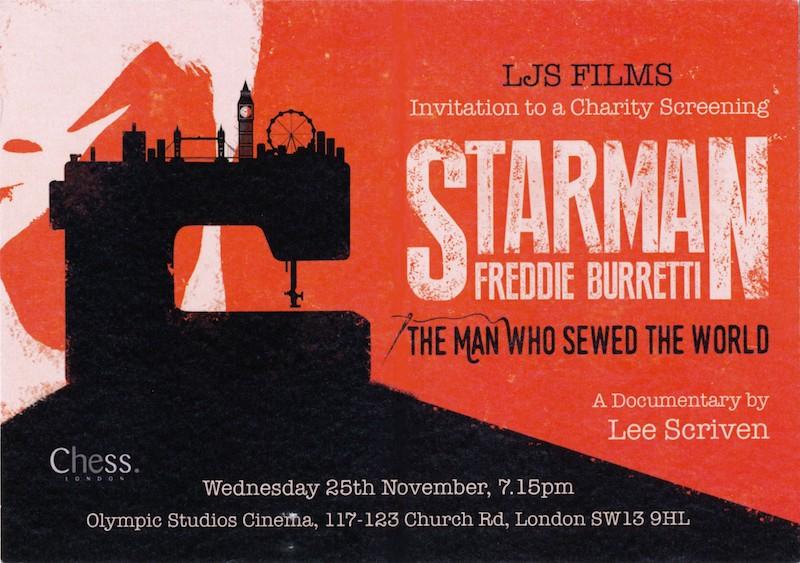 Starman, David Bowie, Freddie Burretti, biopic, Lee Scriven