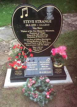 Steve Strange, pop music, gravestone
