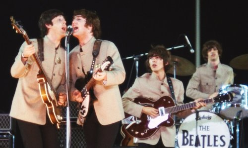 The Beatles, Eight Days a Week, Ron Howard, documentary, film, Paul McCartney, Ringo Starr, John Lennon, George Harrison, Swinging Sixties, live concert, vintage, pop music, Shea Stadium, touring,