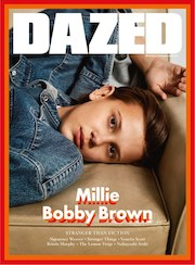 Dazed, magazine, fashion, sci-fi, Winter 2016, Millie Bobby Brown,Stranger Things , Finn Wolfhard
