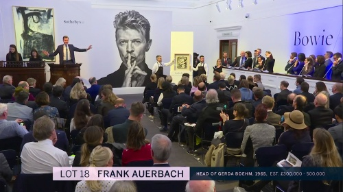 Frank Auerbach, Sotheby's, Bowie/Collector, auction