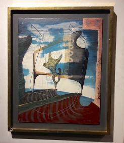 John Tunnard, painting, David Bowie, Sotheby's, auction, contemporary art,
