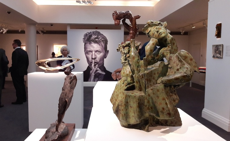 Glynn Williams, sculpture,David Bowie, Sotheby's, auction, contemporary art,