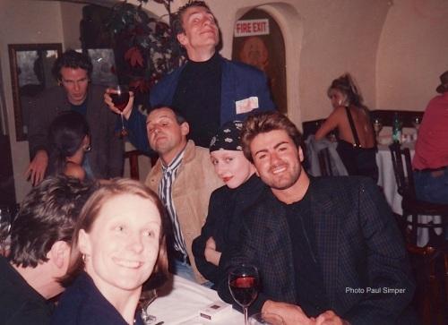 George Michael, Aldo Zilli, Paul Simper, birthday party, Wham!, London, nightlife, clubbing, Lilli Anderson, Alex Goddson, Sam McKnight, Josie Jones