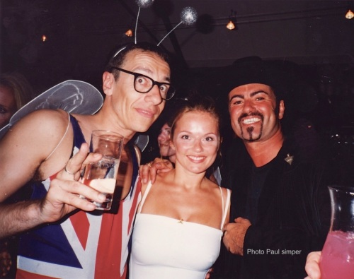 George Michael, Geri Halliwell,, birthday party,