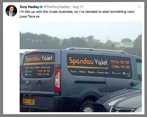pop music, Tony Hadley, split, Spandau Ballet, Twitter