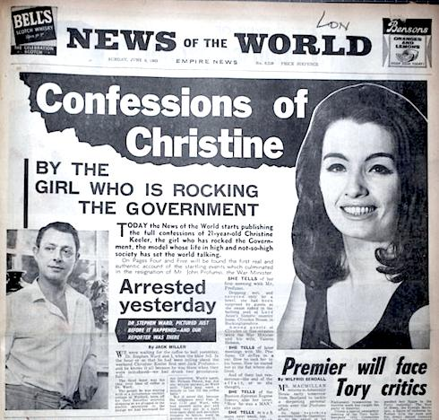 Christine Keeler, John Profumo, politics, sex, scandal, obituary, Lewis Morley, Terry O'Neill, Swinging Sixties