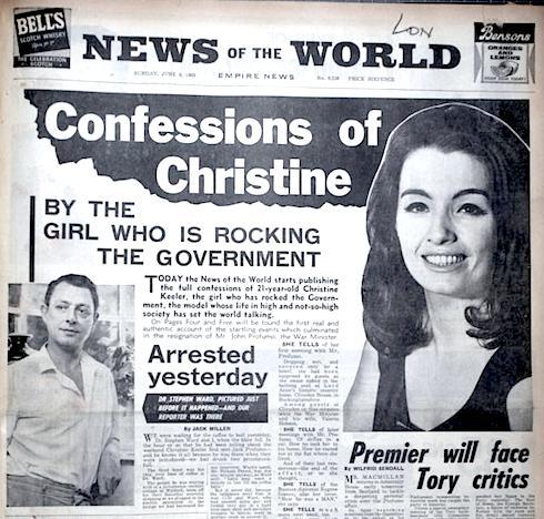 Christine Keeler, John Profumo, politics, sex, scandal, obituary, Lewis Morley, Terry O'Neill, Swinging Sixties