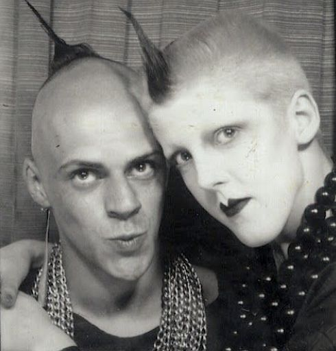 Judy Blame ,Scarlett Cannon, nightclubbing, London, 1980s