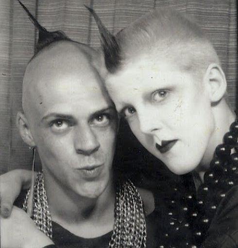 Judy Blame ,Scarlett Cannon, nightclubbing, London, 1980s