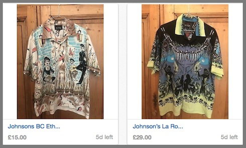 Johnsons, Larocka, shirts, auction, eBay, vintage, clothing,