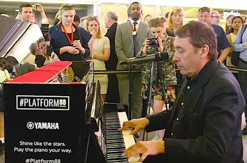 jools Holland, TfL, piano, London, tube station,platform88, piano