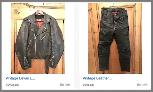 Lewis Leathers, jacket, auction, eBay, vintage, clothing,