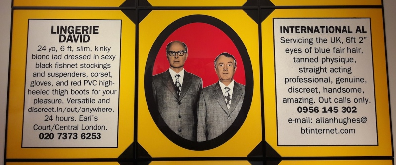 Gilbert & George , Christie's London, auction, art, George Michael, sex,